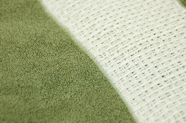 麻入り綿のタオルケット