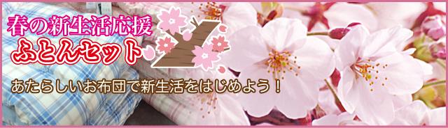 春の新生活応援ふとんセット。あたらしいお布団で新生活をはじめよう!