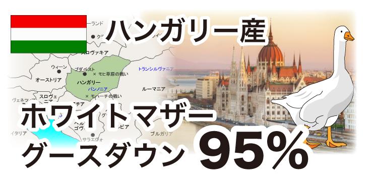 ハンガリー産ホワイトマザーグースダウン95%