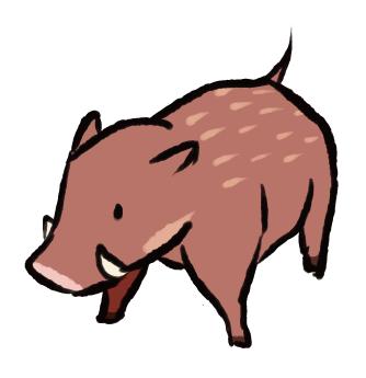 イノシシ、猪